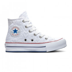 CONVERSE, Chuck taylor all star eva lift hi, White/garnet/midnight navy