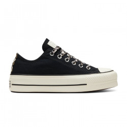 CONVERSE, Chuck taylor all star lift ox, Black/light fawn/egret