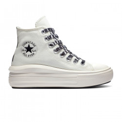 CONVERSE, Chuck taylor all star move hi, Egret/black/egret