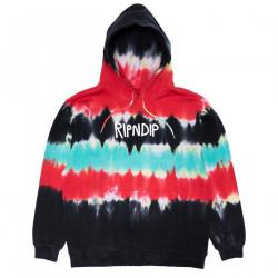 RIPNDIP, Rugger logo hoodie, Tie dye