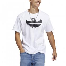ADIDAS, Shmoofoil logo tee, White/black