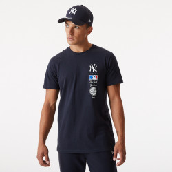 NEW ERA, Mlb stack logo tee neyyan, Nvy