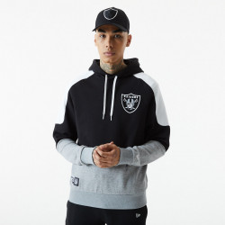 NEW ERA, Nfl contrast panel hoody lasrai, Blk