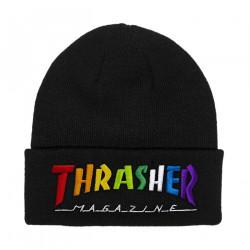 THRASHER, Beanie rainbow mag, Black