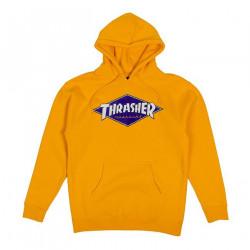 THRASHER, Sweat diamond logo hood, Gold