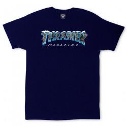 THRASHER, T-shirt black ice ss, Navy