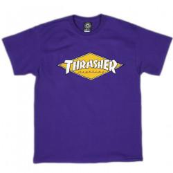 THRASHER, T-shirt diamond logo ss, Purple