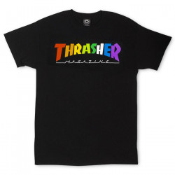 THRASHER, T-shirt rainbow mag ss, Black