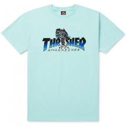 THRASHER, T-shirt leopard mag ss, Mint