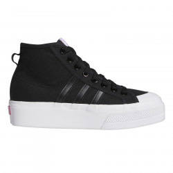 ADIDAS, Nizza platform mid w, Core black/ftwr white/screaming pink