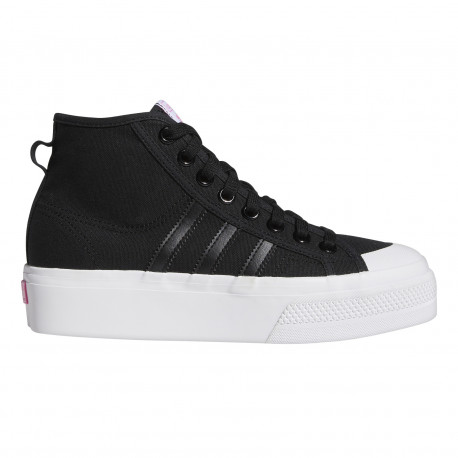 Nizza platform mid w - Core black/ftwr white/screaming pink
