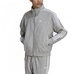 ADIDAS, Boucle firebird track jacket, Medium grey heather/white