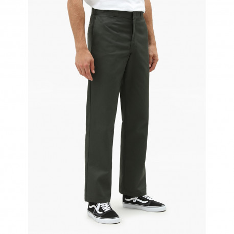 Original fit straight leg work pant - Olive green