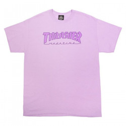 THRASHER, T-shirt outlined, Orchid