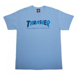 THRASHER, T-shirt checkers, Carolina blue