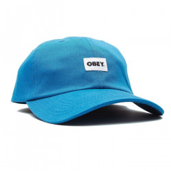 OBEY, Bold label organic 6 panel str, Blue sapphire