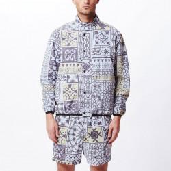 OBEY, Patchwork reversible jacket, Black navy multi