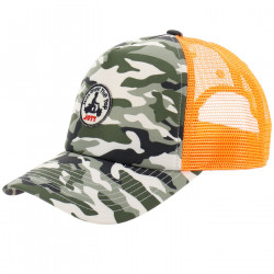 JUST OVER THE TOP, Mesh casquette basique mesh, Army print