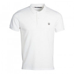 JUST OVER THE TOP, Cherbourg polo basique mc, Blanc