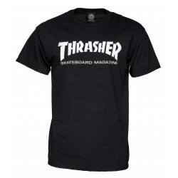 THRASHER, T shirt skate mag, Black
