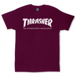 THRASHER, T-shirt skate mag, Maroon
