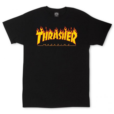 T-shirt flame logo - Black
