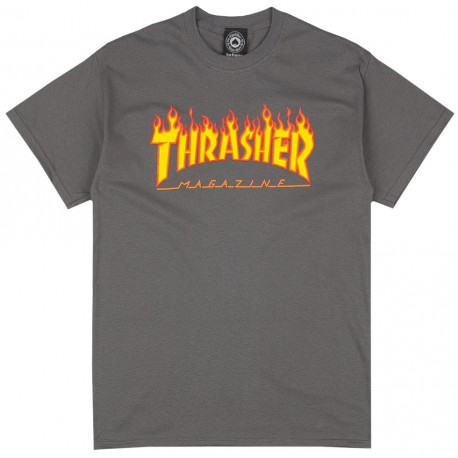 T-shirt flame logo - Charcoal