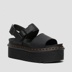 DR. MARTENS, Voss quad, Black hydro leather