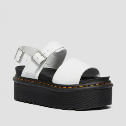 DR. MARTENS, Voss quad, White hydro leather