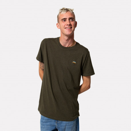 Regular t-shirt 1210 - Army-mel