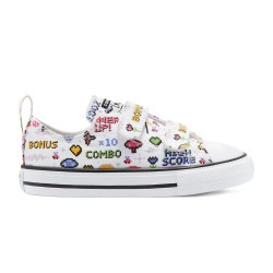 CONVERSE, Chuck taylor all star 2v ox, White/black/bold pink