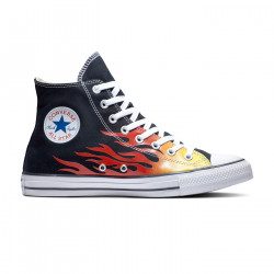 CONVERSE, Chuck taylor all star hi, Black/enamel red/fresh yellow