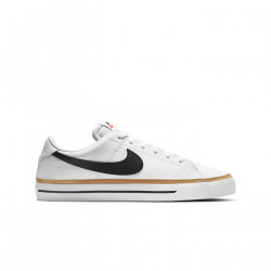 NIKE, Nike court legacy, White/black-desert ochre-gum light brown