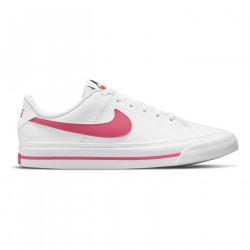 NIKE, Nike court legacy, White/hyper pink