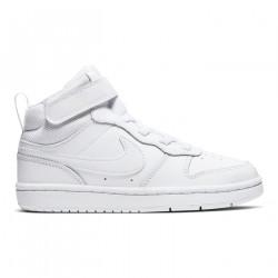 NIKE, Nike court borough mid 2, White/white-white