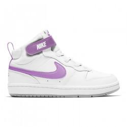 NIKE, Nike court borough mid 2, White/fuchsia glow-lt smoke grey