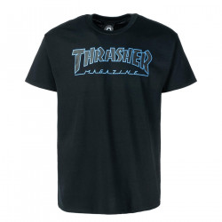 THRASHER, T-shirt outlined, Black black
