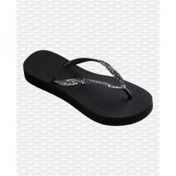 HAVAIANAS, Slim flatform, Glitter black