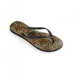 HAVAIANAS, Slim leopard, Black/black