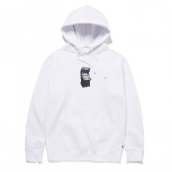 HUF, Sweat arcade hood, White