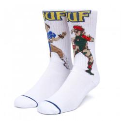 HUF, Socks chun-li & cammy, White