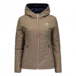 JUST OVER THE TOP, Seoul ml capuche reversible, Beige / bleu nuit