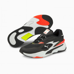 PUMA, Rs-fast tech, Puma black-puma white-fiery coral