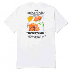 HUF, T-shirt never yours ss, White