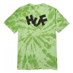 HUF, T-shirt haze brush tie dye ss, Lime