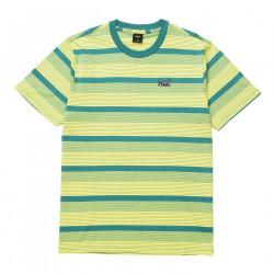 HUF, T-shirt berkley stripe ss knit top, Lemon