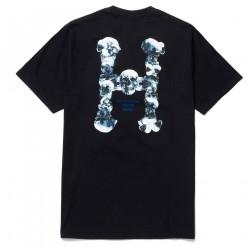 HUF, T-shirt skulls classic h ss, Black