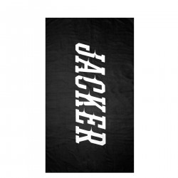 JACKER, Team logo towel, Black