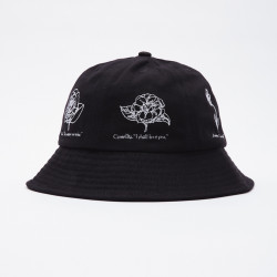 OBEY, Language of flowers bucket hat, Black