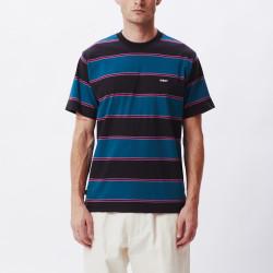 OBEY, Wormly stripe tee ss, Black multi